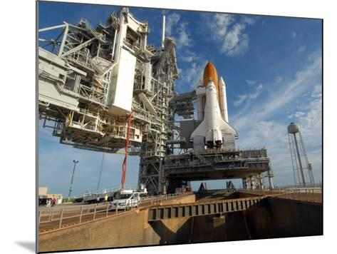View Space Shuttle Atlantis on Launch Pad 39A at the Kennedy Space Center--Mounted Photographic Print
