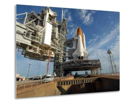 View Space Shuttle Atlantis on Launch Pad 39A at the Kennedy Space Center--Metal Print