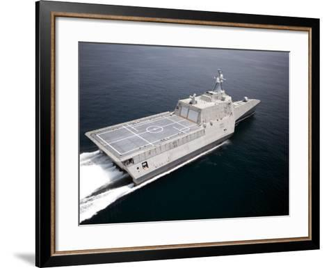 The Littoral Combat Ship Independence Underway During Builder's Trials in the Gulf of Mexico--Framed Art Print