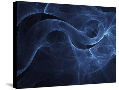 Abstract Blue Illustration--Stretched Canvas Print