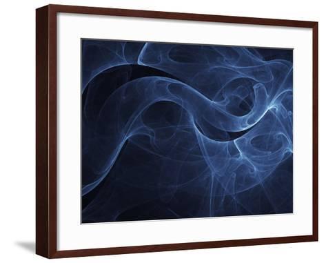 Abstract Blue Illustration--Framed Art Print