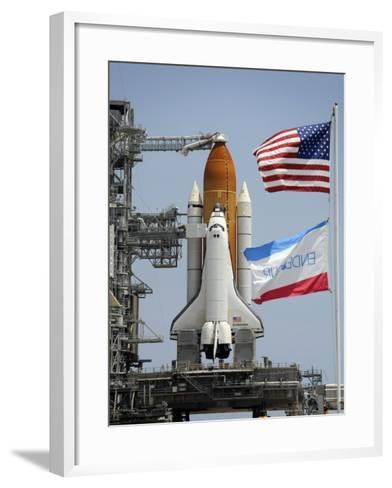 Space Shuttle Endeavour on the Launch Pad at Kennedy Space Center--Framed Art Print