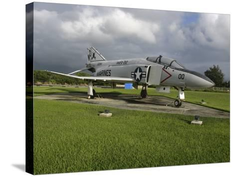 The F4 Phantom II on Display--Stretched Canvas Print