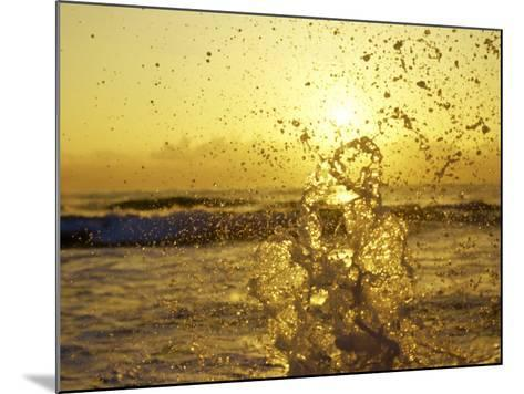 Water Splashing with Sun in the Background-Rob Lang-Mounted Photographic Print