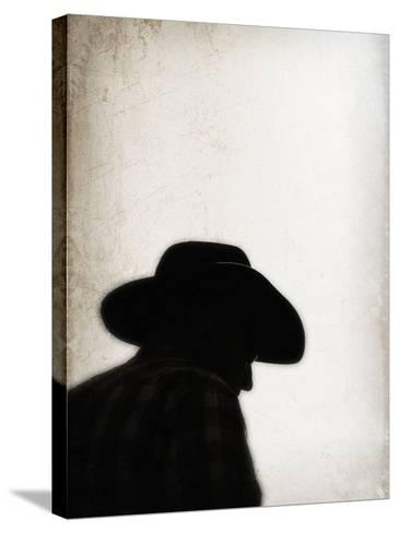 Silhouette of Cowboy-April Bauknight-Stretched Canvas Print