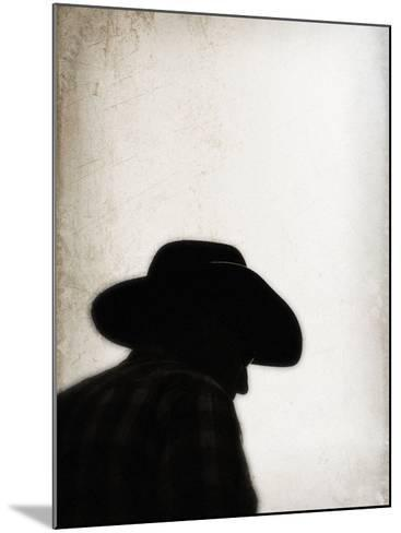 Silhouette of Cowboy-April Bauknight-Mounted Photographic Print
