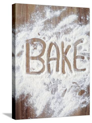 Word Bake in Flour-Neil Overy-Stretched Canvas Print