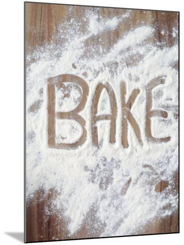 Word Bake in Flour-Neil Overy-Mounted Photographic Print