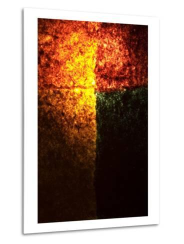 Abstract Image in Red, Yellow, and Green-Daniel Root-Metal Print