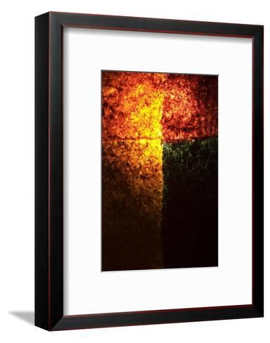 Abstract Image in Red, Yellow, and Green-Daniel Root-Framed Art Print
