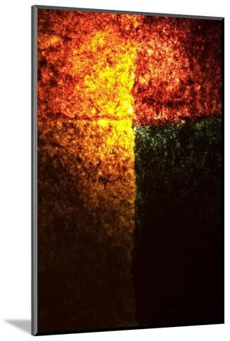 Abstract Image in Red, Yellow, and Green-Daniel Root-Mounted Giclee Print