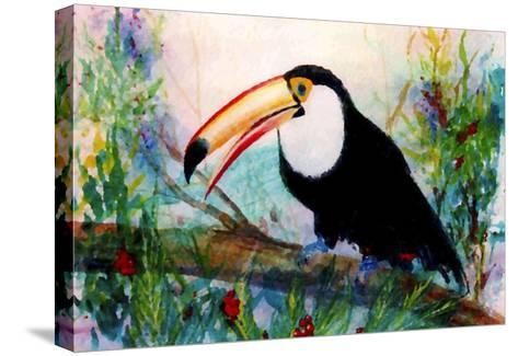 Toucan Sits on Large Branch-Rich LaPenna-Stretched Canvas Print