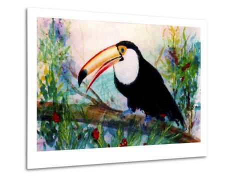 Toucan Sits on Large Branch-Rich LaPenna-Metal Print
