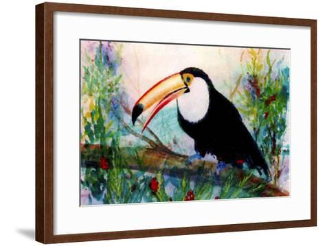 Toucan Sits on Large Branch-Rich LaPenna-Framed Art Print