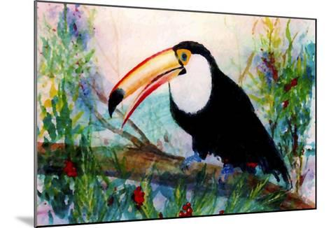 Toucan Sits on Large Branch-Rich LaPenna-Mounted Giclee Print