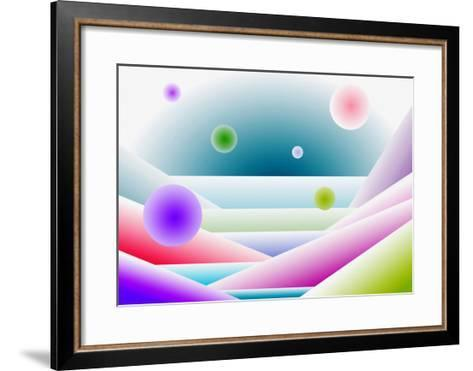 Layers of Space and Round Forms-Rich LaPenna-Framed Art Print