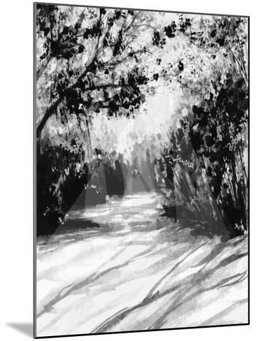 Trees and Shadows on Sand-Rich LaPenna-Mounted Giclee Print