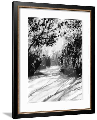 Trees and Shadows on Sand-Rich LaPenna-Framed Art Print