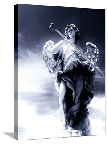 Angel Statue in the Clouds-Abdul Kadir Audah-Stretched Canvas Print