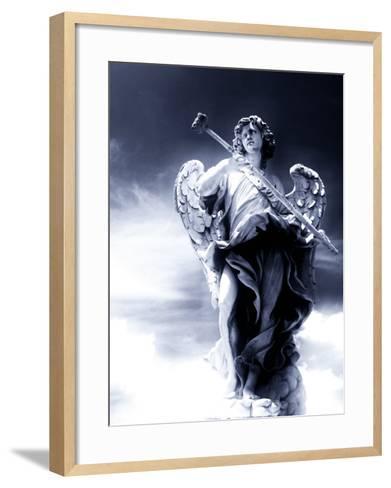 Angel Statue in the Clouds-Abdul Kadir Audah-Framed Art Print