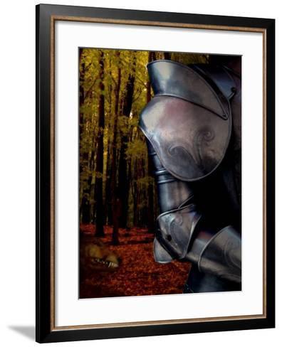 The Fox Hunts the Knight in Armor in the Forest-Abdul Kadir Audah-Framed Art Print