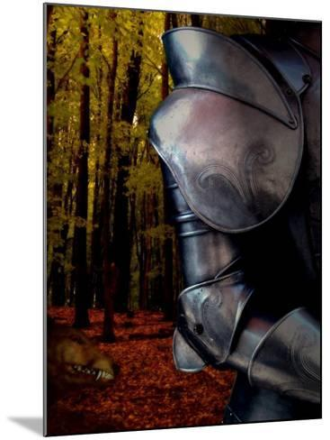 The Fox Hunts the Knight in Armor in the Forest-Abdul Kadir Audah-Mounted Photographic Print