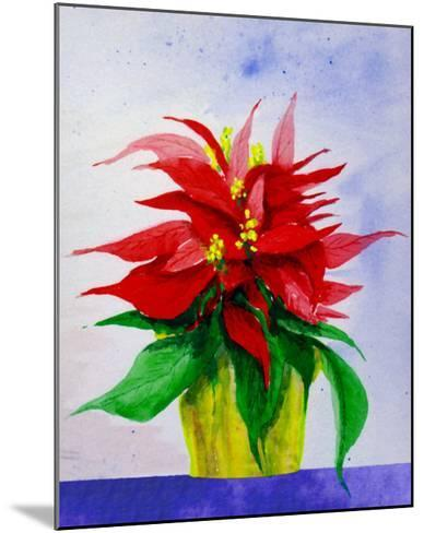 Poinsetta Flower in Pot-Rich LaPenna-Mounted Giclee Print