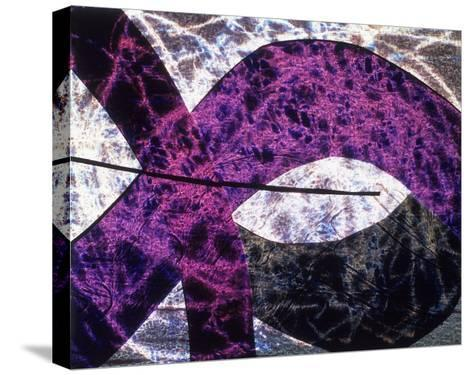 Abstract Image in Purple and White-Daniel Root-Stretched Canvas Print