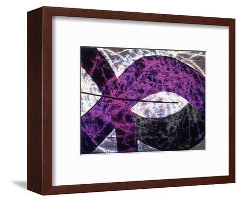 Abstract Image in Purple and White-Daniel Root-Framed Art Print