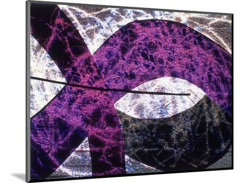 Abstract Image in Purple and White-Daniel Root-Mounted Giclee Print