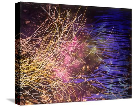 Abstract Image in Yellow and Blue-Daniel Root-Stretched Canvas Print