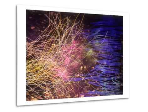 Abstract Image in Yellow and Blue-Daniel Root-Metal Print