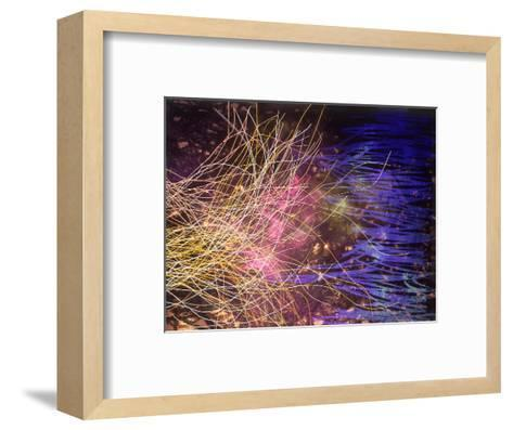 Abstract Image in Yellow and Blue-Daniel Root-Framed Art Print