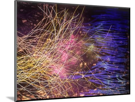 Abstract Image in Yellow and Blue-Daniel Root-Mounted Giclee Print