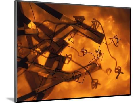 Abstract Image in Brown and Orange-Daniel Root-Mounted Giclee Print