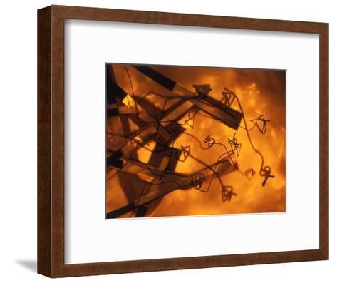 Abstract Image in Brown and Orange-Daniel Root-Framed Art Print