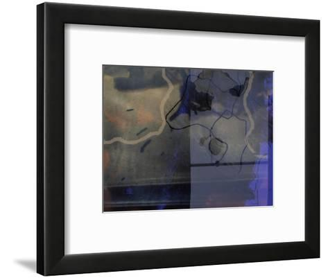 Abstract Image in Black and Blue-Daniel Root-Framed Art Print