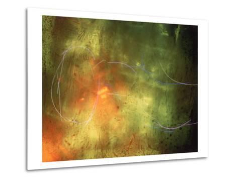 Abstract Image Yellow,Green, and Red-Daniel Root-Metal Print
