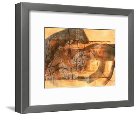 Abstract Image in Beige, Brown, and Black-Daniel Root-Framed Art Print