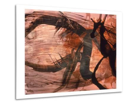 Abstract Image in Brown and Black-Daniel Root-Metal Print