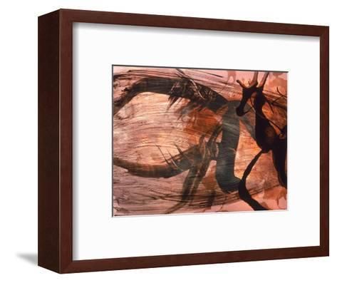Abstract Image in Brown and Black-Daniel Root-Framed Art Print