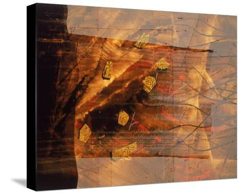 Abstract Image in Brown and Red-Daniel Root-Stretched Canvas Print