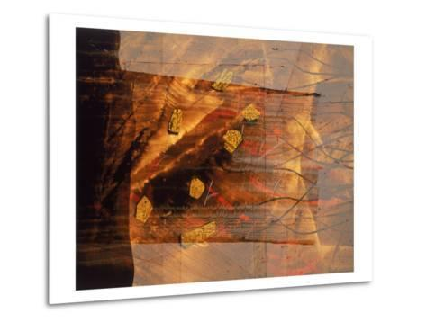 Abstract Image in Brown and Red-Daniel Root-Metal Print