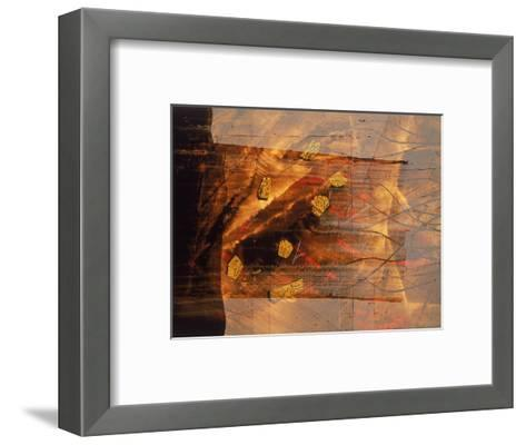 Abstract Image in Brown and Red-Daniel Root-Framed Art Print