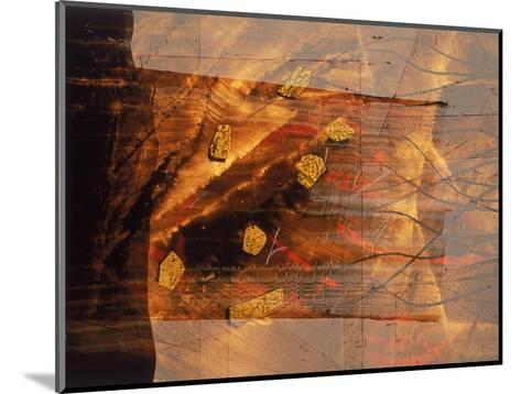 Abstract Image in Brown and Red-Daniel Root-Mounted Giclee Print