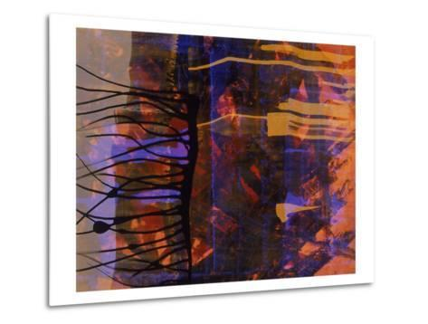 Abstract Image in Black, Blue, and Red-Daniel Root-Metal Print