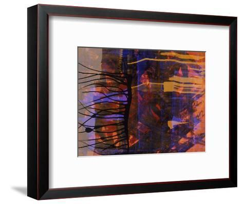 Abstract Image in Black, Blue, and Red-Daniel Root-Framed Art Print