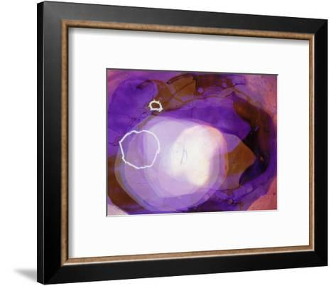 Abstract Image in Various Shades of Purple-Daniel Root-Framed Art Print