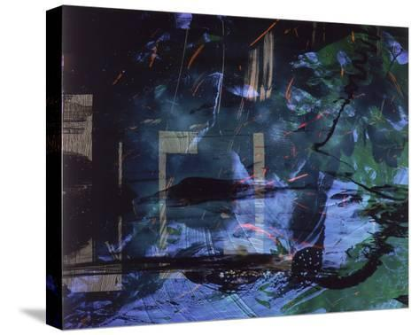 Abstract Image in Blue and Green-Daniel Root-Stretched Canvas Print