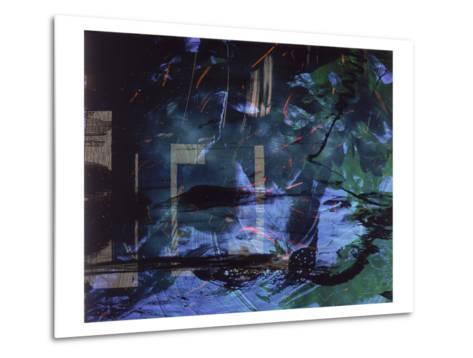 Abstract Image in Blue and Green-Daniel Root-Metal Print